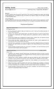 Resume Template Experienced Nursing Resume Samples Free