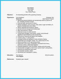 Cover Letter 24 Awesome Things You Can Learn From Bartender Resume