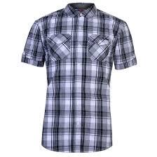 Gents Shirt Pocket Design Details About Lee Cooper Mens Ss Check Shirt Short Sleeve Casual Cotton Chest Pocket Fold Over