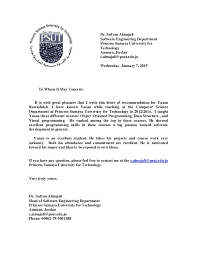 Recommendation Letter For Yazan Rawashdeh