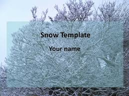 Snow Templates Snow Powerpoint Template