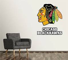 chicago blackhawks wall decal art sticker decor vinyl nhl hockey logo sr226