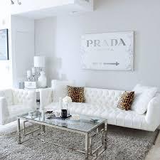 white living room furniture modern sets