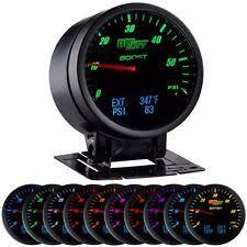 exhaust temp gauge glowshift 3 in 1 black boost digital exhaust temp and pressure gauge gs 3g