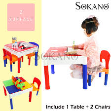 malaysia sokano ar811 3 in 1 learning desk and play desk for kids include 1 table