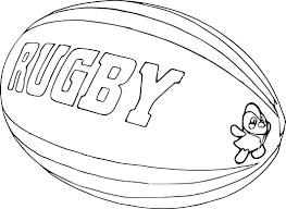 Coloriage Ballon De Rugby Imprimer