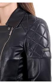 barbour international sherco soft biker style leather jacket navy