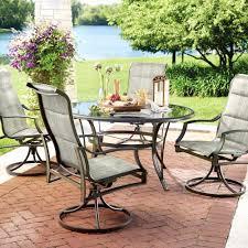 outdoor patio dining table set luxury hampton bay statesville 5 piece padded sling patio dining set