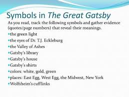 the great gatsby ppt  symbols in the great gatsby