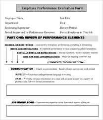 Construction Employee Review Template 41 Sample Employee Evaluation Forms In Pdf