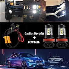 E46 M Sport Fog Light Bulb 2x Canbus H11 H8 H9 Led Fog Light Bulb For Bmw E46 E39 E60 E36 F30 F10 E30 E34 X5 E53 M F20 X3 E87 E70 E92 X1 M3 X6 E38
