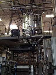 bullseye glass factory recently installed a new baghouse on one of their furnaces