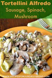tortellini alfredo spinach sausage