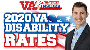 Military Disability Pay Chart 2020 2020 Va Disability Pay Chart Va Claims Insider