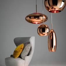 Copper Wide Suspension Lamp