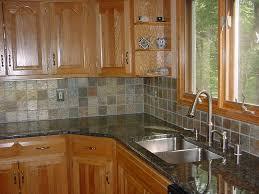 stone tile kitchen countertops. Beautiful Kitchen Decoration Using Black Granite Counter Tops : Breathtaking Small L Shape Stone Tile Countertops
