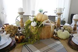 Fall Table Scapes Neutral Rustic Fall Tablescape Mrs Rollman Blog