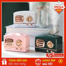 Máy Phun Sương Binbo Mini Hình Đài Cassette Hơi Nước Tạo Ẩm, Khử Mùi Trong  Phòng Có Đèn Led Ngủ (Tặng Kèm Dây Sạc) chính hãng 140,000đ