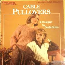 Pattern Knit Cable Pullovers Leisure Arts 443 designs by Darla | Etsy