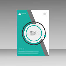 vector leaflet brochure flyer template a4 size design annual report book cover layout