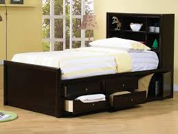 Full Size Bed Storage Kids Modern Storage Twin Bed Design With