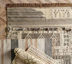 isaac synthetic kilim rug neutral multi pottery barn