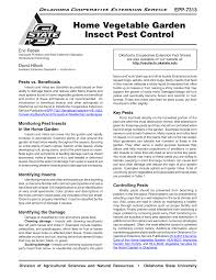 pdf home vegetable garden insect pest control