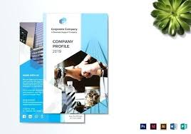Company Brochure Example Bi Fold Brochure For Master Business Corporate Samples Pdf