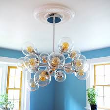 how to install ceiling medallion with a chandelier