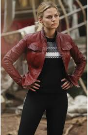 emma swan red leather jacket from once upon a time season 6 s jacket