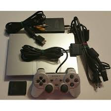 sony playstation 2 slim. sony playstation 2 slim satin silver console playstation