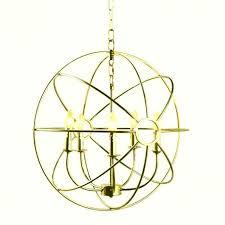 brushed nickel orb chandelier