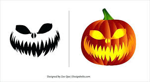 Scary Pumpkin Carving Patterns Best Scary Pumpkin Carvings Easy Free Carving Patterns Stencils Halloween
