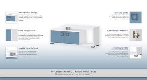 Tv Element Farbe Weiß 49x120x37 Cm