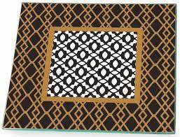 bi midnight black gold white geometric square glass dinner plates bulk gpc14284