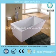 new model rectangle deep soaking acrylic freestanding bathtub bls 5834b