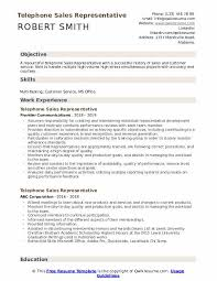 Telephone Sales Representative Resume Samples Telephone Sales Representative Resume Samples Qwikresume