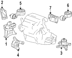 parts com® honda civic engine trans mounting oem parts 2007 honda civic si l4 2 0 liter gas engine trans mounting