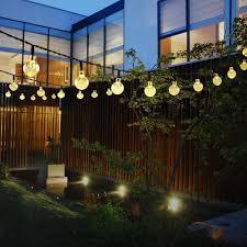 outdoor lighting balls. Primium Solar String Lights, Waterproof Outdoor Globe 20ft 30 LED Fairy Crystal Ball Lighting For Christmas Trees, Garden, Patio, Wedding, Balls S