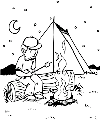 Small Picture Camping coloring pages at night ColoringStar