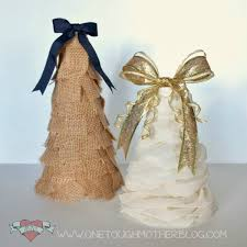 DIY Ruffle Christmas Tree and Burlap Christmas Tree  sweetteaandsavinggraceblog.com