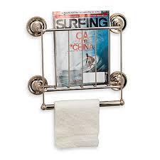 wall mount magazine rack toilet. 13-Karat Gold Finish Wall Mount Magazine Rack Toilet B