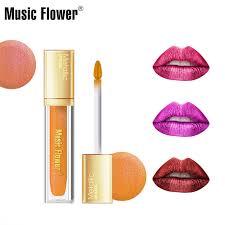 <b>Music Flower</b> Moist Lipstick Makeup Metallic Liquid Lipstick ...