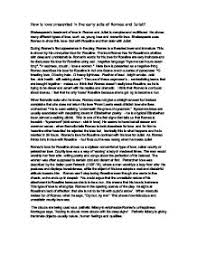 how is love presented in the early acts of romeo and juliet page 1 zoom in