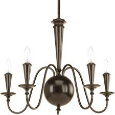 progress lighting identity collection 5 light antique bronze chandelier