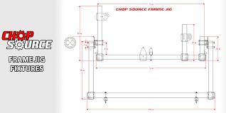 chop source motorcycle frame jig parts fixtures chopper bobber