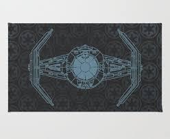 star wars schematic design advanced x1 tie fighter area rug