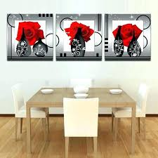 red rose wall decor unique canvas picture flower painting print and white red rose wall decor