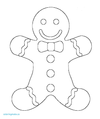 Revisited Gingerbread Men Coloring Pages Miracle Tiny Man Page Free
