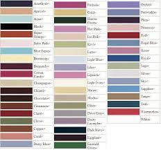 Wedding Color Chart Color Chart
